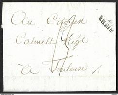 Lettre De Reims Pour Toulouse - Marcophilie (Lettres)