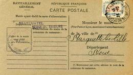 Carte De Ravitaillement, Mairie De NEUFCHATEL En BRAY (Seine Inférieure) - Cachet à Date Du 26 Octobre 1946 - Marcophilie (Lettres)