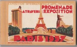 75) PARIS - EXPOSITION INTERNATIONALE ARTS ET TECHNIQUES - 1937 - CARNET COMPLET DE 20 CPA - EDIT. H. CHIPAUL - 4 SCANS) - Expositions