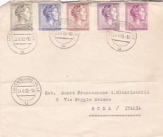 LUXEMBOURG ENVELOPE CIRCULATED 1960. ROMA, ITALY. MIXED STAMPS -LILHU - Lussemburgo