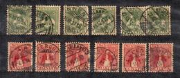 Suisse YT N° 155 (6) Et N° 156 (2) Oblitérés. B/TB. A Saisir! - Gebraucht