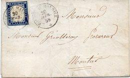 "FRANCE : N° 12 SARDAIGNE . OBL . "" BOURG - ST - MAURICE "" . AB . 1858 . - Storia Postale"