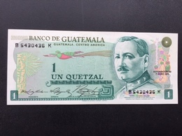 GUATEMALA P59B 1 QUETZAL 07.01.1975 UNC - Guatemala