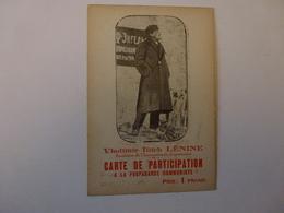 VIEILLE CARTE DE PARTICIPATION A LA PROPAGANDE COMMUNISTE, VOIR SCAN - Organisaties