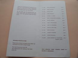 VLAEYKENSGANG ( BEIAARDCONCERTEN ) Buffet Sir Anthony Van Dijck / Axel Vervoordt > Programma > Anno 19?? ( Zie Foto ) ! - Menus