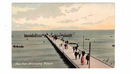 WINNIPEG BEACH, Manitoba, Canada, The Pier, Old Pre-1920 Postcard - Other