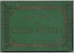 SABLES-D'OLONNE, Souvenir Des. E. Mayeux Editeur, Vers 1880. Album De Litho, TBE Dont 2 Panoramiques - Stiche & Gravuren