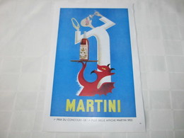 """MARTINI - """" ANGE ET DIABLE  """" 1er Prix DU CONCOURS DE LA PLUS BELLE AFFICHE MARTINI 1953 - PUBLICITE DE MARS 1956. - Advertising"""