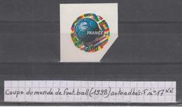 France Coupe Du Monde De Foot-ball (1998) Autoadhésif Y/T N°17 (ou 3140) Neuf ** Issu De La Bande-carnet BC17(ou 3140) - France
