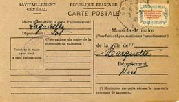 Carte De Ravitaillement, Mairie DeLAGARDELLE  - Oblitér. Cachet Agence Postale Rurale De GREZELS à Date Du 7 Août 1946 - Marcophilie (Lettres)