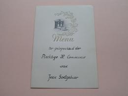 Menu Ter Gelegenheid Der Plechtige H. Communie Van Jean GOETGEBUER ( DEURNE 13 Mei 1953 ) > Cools Louis ( Zie Foto ) ! - Menus
