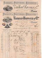 1889/93 - Lyon - PARFUMERIE & SAVONNERIE - VACHON BAVOUX & Cie - Place De La Charité - Documents Historiques