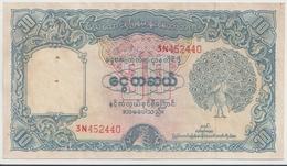 BURMA P. 44 10 K 1953 VF/XF - Myanmar