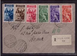 Vatikan FDC 1935 Juristenkongress 45-50 Ersttagsbrief R-Brief (21978) - FDC