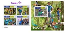 Maldives 2019 Scouts Scouting MS+S/S MLD190805 - Célébrités