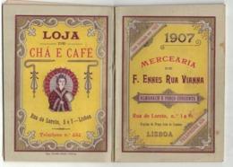 CALENDARIETTO PORTOGHESE 1907 Drogheria F. Ennes Rua Vianna Lisboa 64 Pp Con Elenco Prodotti E  Prezzi, Tariffe Postali - Calendriers