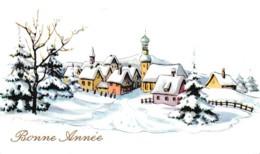 MIGNONNETTE BONNE ANNEE ,VILLAGE SOUS LA NEIGE  REF 62308 - Neujahr