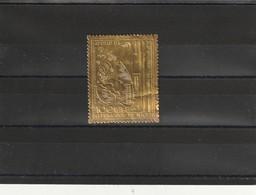 NIGER 1968 TIMBRE EN OR (GOLD) Poste Aérienne N° 111 1000 Fr APOLLO VIII, Neuf **(un Pli - Níger (1960-...)