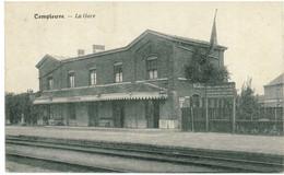 TEMPLEUVE 1922: LA GARE ( Peu Courante) - Tournai