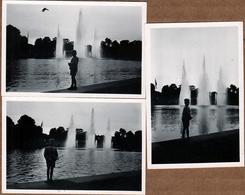 3 Photos Originales Contre-Jour Sur Un  Enfant & Les Bassins De Planten Un Blomen Hambourg En 1941 - Anonymous Persons