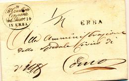 1834  PREFILATELICA ERBA LINEARE NERO - 1. ...-1850 Prefilatelia