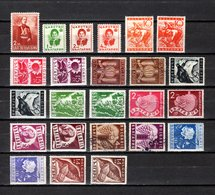 Bulgaria   1937-38  .-  Y&T  Nº   295-296/298-299/318   ( 295  Doblez )  ( 304  Falta Punta ) - Oblitérés