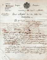 1806 - Ville De CASTELNAUDARY à La Commune De FRONTIGNAN - Recherche CONSCRITS De L'An 14 - Documents Historiques