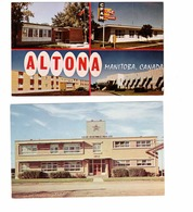 2 Different ALTONA, Manitoba, Canada, Multi-View (CFAM, Hospital), & Co-op Vegetables Oils Ltd , Old Chrome Postcards - Other