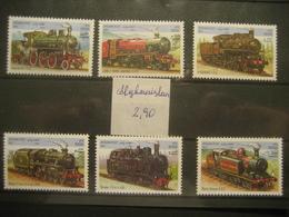 Afghanistan- Lokomotiven Auf Postfrischen** Briefmarken Von Afghanistan - Afghanistan