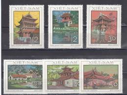 Vietnam Nord 1968 - Pagodas, Mi-Nr. 550/55, Perforated, MNH** - Vietnam
