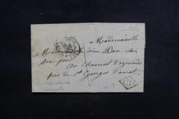 """FRANCE - Cursive """" 41 St Georges D'Aurat """" Au Verso D'une Lettre En 1842 - L 50730 - 1801-1848: Précurseurs XIX"""