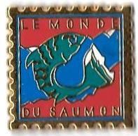 AB - L18 - LE MONDE DU SAUMON - Verso :  ARTHUS BERTRAND / XM - Arthus Bertrand