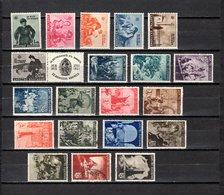 Bulgaria   1942-43  .-  Y&T  Nº   400/405-406/419 - Oblitérés