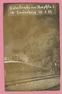 67 - LAUTERBOURG - Carte Photo - Péniche - Hausbbot - Barge - Katastrophe Der HAPHTA  - Incendie - Catastrophe 30/8/1927 - Lauterbourg