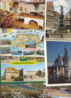 9.112 Gramm (netto) Ansichtskarten Aus Deutschland (Lot124) - 500 Karten Min.