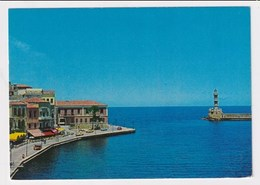 GREECE - AK 370052 Canea - Entrance To The Harbour - Grèce