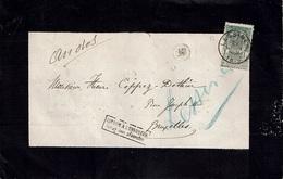 """L. Mortuaire Alexandre CHANOINE De GHOY Envoyée De LESSINES (22 Juin 1896) à BRUXELLES + """"Retour à L'Envoyeur"""" + Divers - Poststempel"""