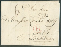 LAC From AMSTERDAM 11.09.1780 To Aalst (BE) + Red Hs H (Holland). . OD011 - 1714-1794 (Paesi Bassi Austriaci)
