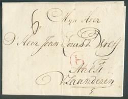 LAC From AMSTERDAM 11.09.1780 To Aalst (BE) + Red Hs H (Holland). . OD011 - 1714-1794 (Oesterreichische Niederlande)