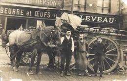 CPA Paris Boutique De Beurre Et Oeufs Leveau Livreur Crèmerie - Artigianato Di Parigi