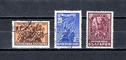 Bulgaria   1947  .-  Y&T  Nº   536/538 - Oblitérés