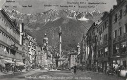 Innsbruck. Maria TheresienstraBe Gegen Die Nordkette - Innsbruck