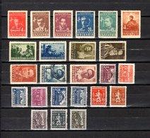 Bulgaria   1948  .-  Y&T  Nº   575/79-580/83-584/85-588/89-590/93A-594/96-597/98 - Oblitérés