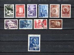 Bulgaria   1949-50  .-  Y&T  Nº   617A/617DA-621/624-625-629 - Oblitérés