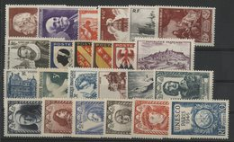 1946 ANNEE COMPLETE ** (MNH). Cote 26 €. N° 748 à 771 Soit 24 Timbres. TB. - 1940-1949