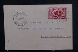 CAMEROUN - Enveloppe De Batouri Pour Bétaré Oya En 1944, Affranchissement Plaisant - L 50740 - Cameroun (1915-1959)