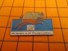 2519 PINS PIN'S / Beau Et Rare : Thème BANQUES / CREDIT AGRICOLE ELEPHANT GIRAFE VOTRE EPARGNE A DE L'IMAGINATION - Banken
