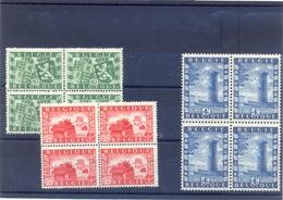 Nrs. 823/825 MNH In Blok Van 4  Postgaaf ** Prachtig 64 Côte - Belgique