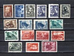 Bulgaria   1950  .-  Y&T  Nº   625/627-630/637-637B-638-639/640 - Oblitérés