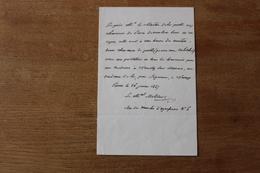 Lettre Autographe Maréchal  Molitor  1847 - Documents Historiques